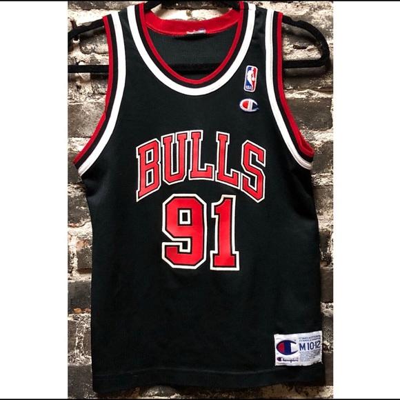 Vtg Dennis Rodman Chicago Bulls Jersey Women s S. M 5bdbcc283c9844610b984fe8 aae722335